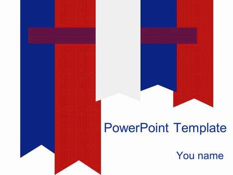 Free Red and Blue PowerPoint Template - Prezentr PowerPoint Templates