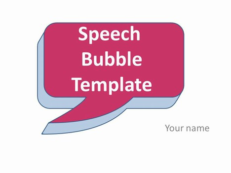 Speech Bubble Template
