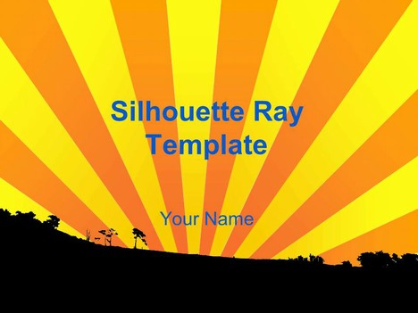 Silhouette Sun Ray Template