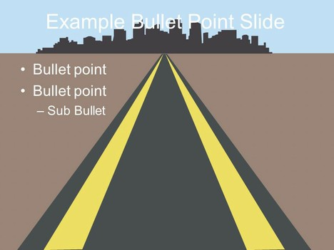 roads template, Modern powerpoint