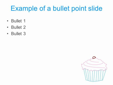Cupcake PowerPoint Template inside page