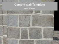 Cement Wall Template