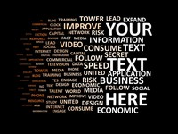 Black Word Cloud PowerPoint Template