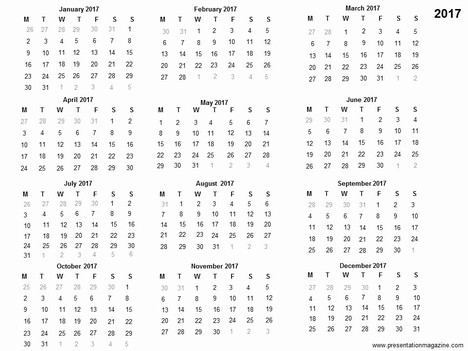 Free 2017 printable calendar template free 2017 printable calendar template inside page toneelgroepblik Image collections