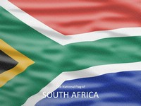 South Africa Flag PowerPoint Template thumbnail