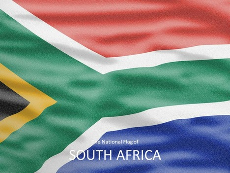 south africa flag powerpoint template, Modern powerpoint