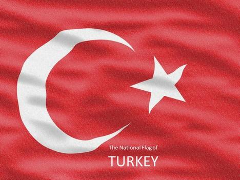 Turkey Flag Powerpoint Template