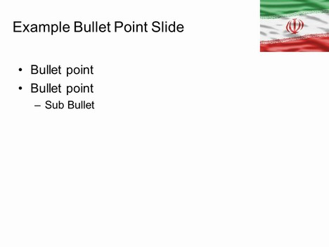 Iran Flag PowerPoint Template inside page