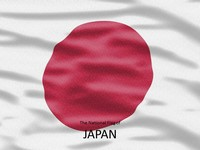 Japan Flag PowerPoint Template