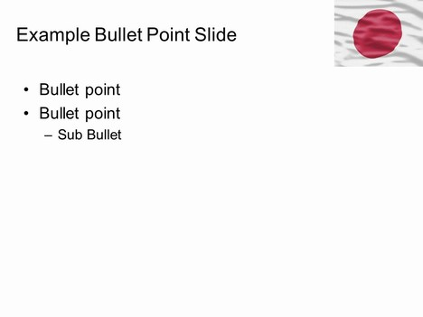 Japan Flag PowerPoint Template inside page