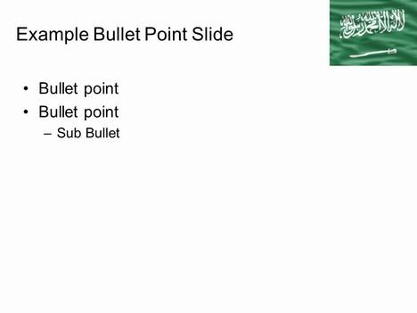 Saudi Arabia Flag PowerPoint Template inside page