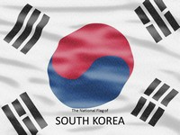 South Korea Flag PowerPoint Template