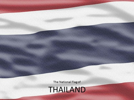 Thailand Flag PowerPoint Template