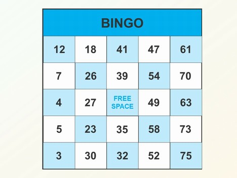 Pretty Bingo Template Images Blank For Teachers