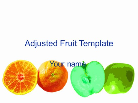 Adjusted Fruit Template