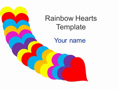 Rainbow Hearts Template