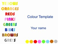 Colour Template
