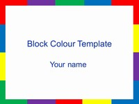 Block Colour Template