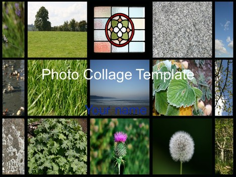 Photo collage template for Photo collage number templates