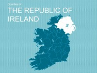 Map of The Republic of Ireland Template thumbnail