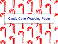 Candy Cane Wrapper Wrapping Paper