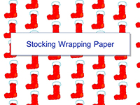 Christmas Stocking Wrapping Paper Template thumbnail