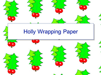Holly Wrapping Paper Template
