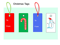 Christmas Tags PowerPoint thumbnail