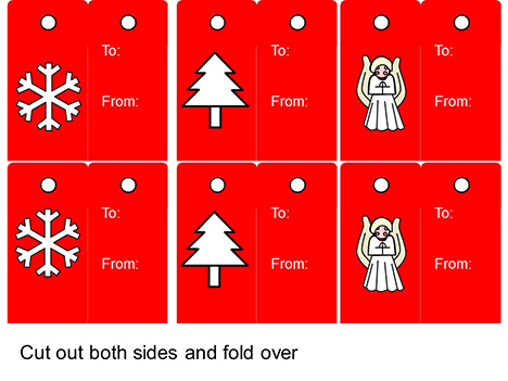 Christmas Tags PowerPoint inside page