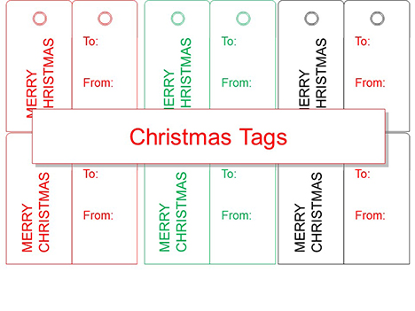 Christmas Tag Outline