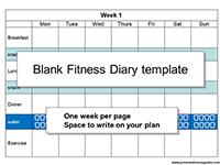 Blank Fitness Diary