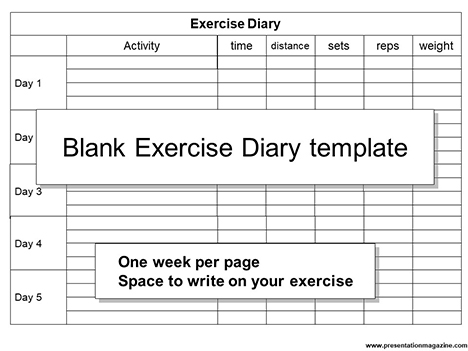 Blank Exercise Diary