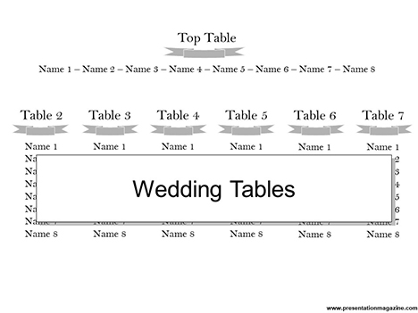 Wedding Tables Template