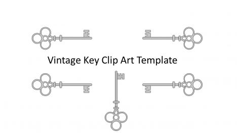 Vintage Key Clip Art Template