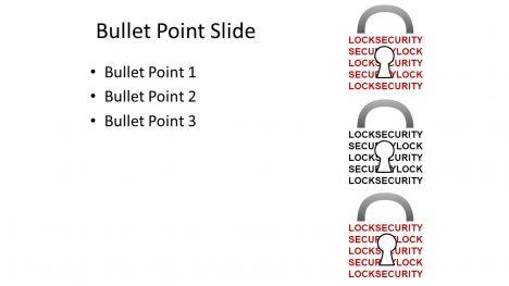 페이지 안의 보안 PowerPoint 템플릿