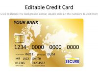 Gold Credit Card Template thumbnail