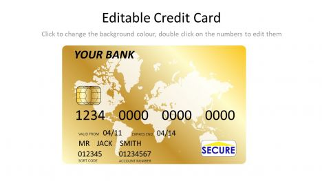 gold credit card template
