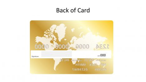 Gold Credit Card Template inside page
