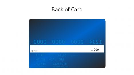 Blue Credit Card Template inside page