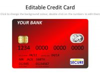 Red Credit Card Template thumbnail