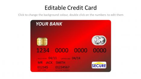 Red Credit Card Template