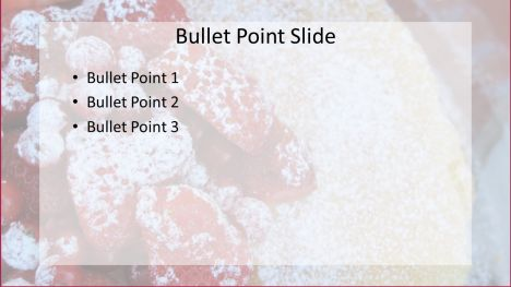 Summer Fruit Cake PowerPoint inside page