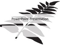Black Fern PowerPoint Template