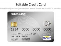 Silver Credit Card Template