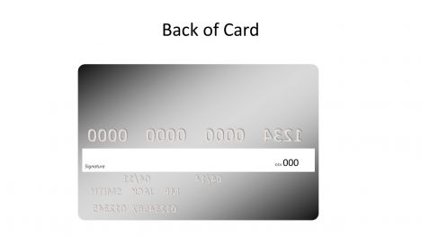 Silver Credit Card Template inside page
