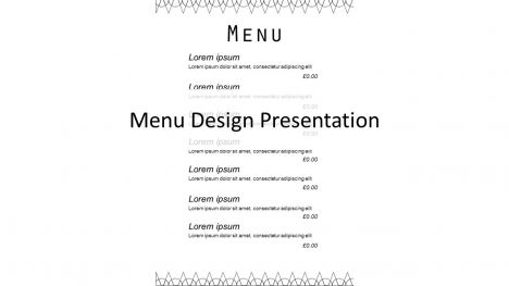 Portrait Menu Design PowerPoint Template - Powerpoint menu template