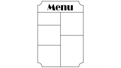 Portrait Menu Design PowerPoint Template inside page