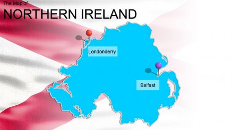 Northern Ireland Widescreen PowerPoint Template inside page