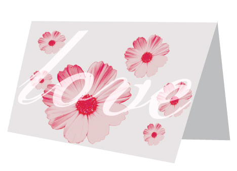 Pink Flower Card Template