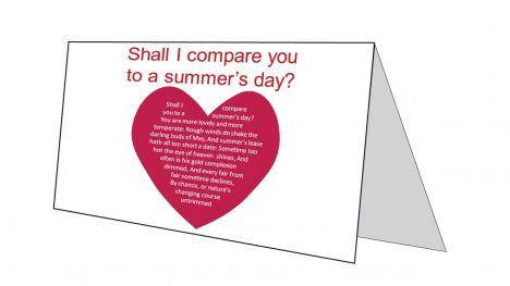 Love Sonnet Card inside page